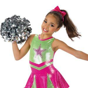 586  Cheerleader Character Jazz Dance Costume Fuchsia
