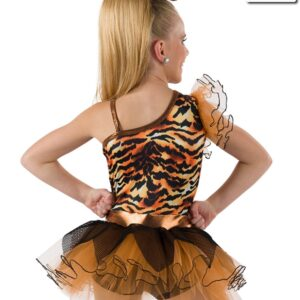 593  Cant Be Tamed Tiger Character Dance Costume Back