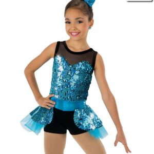 607  Name In Lights Jazz Tap Value Costume Turquoise