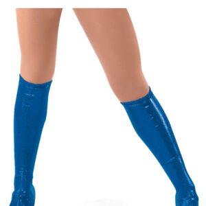 6166B Foil Lycra Boot Covers Royal Blue