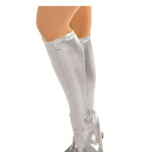 6166B Foil Lycra Boot Covers Silver
