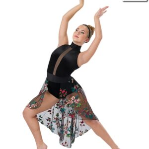 686  You Say Floral Embroidered Lyrical Dance Dress