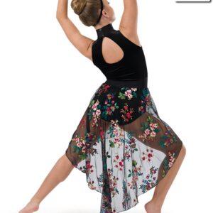 686  You Say Floral Embroidered Lyrical Dance Dress Back