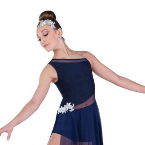 690  Navy Lyrical Dance Dress