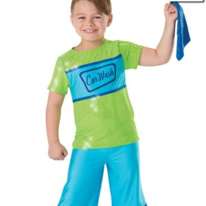 691  Car Wash Guy Themed Dance Costume Turquoise