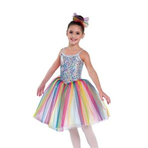 698  Kids Rainbow Sequin Ballet Tutu