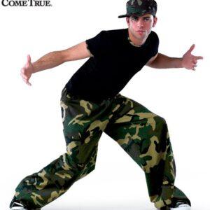 7079  A Camo Trim Boys Mens Dance Top
