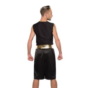 738  Gonna Fly Now Boxer Themed Dance Costume Baxck