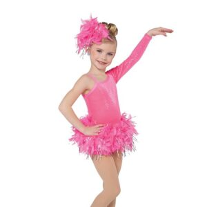 750  The Flamingo Toddler Feather Tap Dance Costume