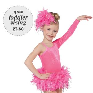 750  The Flamingo Toddler Feather Tap Dance Costume A