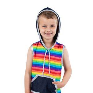755  Boys Rainbow Jazz Dance Top