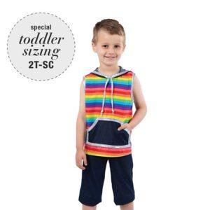 755  Boys Rainbow Jazz Dance Top1