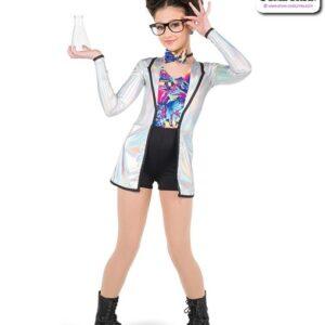 756  Hologram Foil Scientist Character Dance Costume