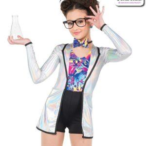 756  Hologram Foil Scientist Character Dance Costume A