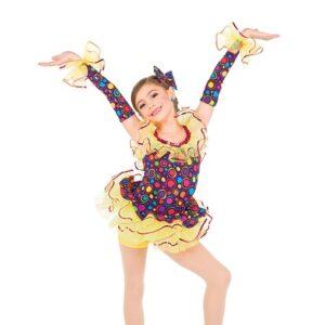 764  Polka Dot Spandex Jazz Dance Costume
