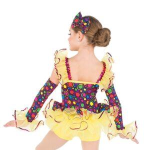 764  Polka Dot Spandex Jazz Dance Costume Back