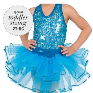 769T  Broadway Bound Tutu Skirt Turquoise
