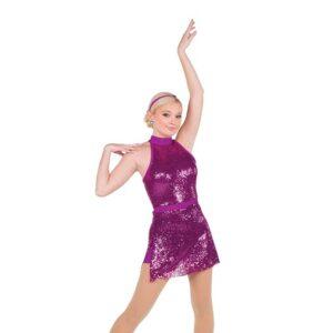 774  Sequin Mesh Jazz Dance Dress