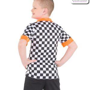 777  Checkered Sapndex Guy Dance Shir Back