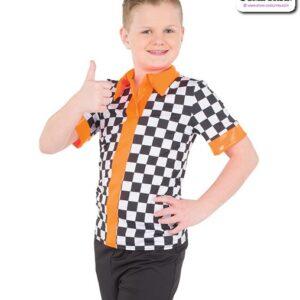777  Checkered Sapndex Guy Dance Shirt
