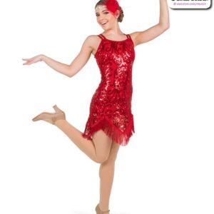 778  Sequin Scroll Jazz Tap Dance Dress