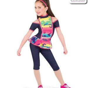 782  Camo Print Kids Hip Hop Performance Costume