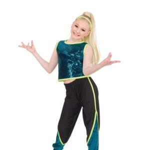 785  Sequin Slinky Hip Hop Dance Costume