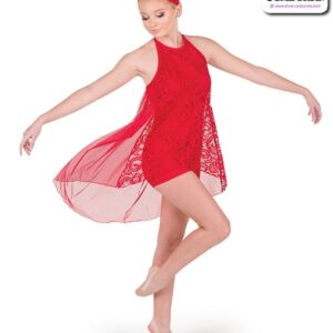 790  Lace Tunic Solid Spandex Lyrical Dance Shortall