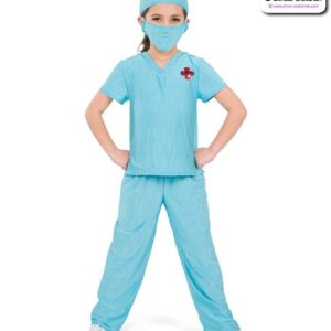 793  Creased Spandex Doctor Character Dance Costume A