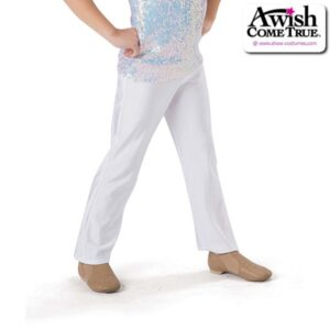 849  Plain Fronted Guys Spandex Dance Pants White
