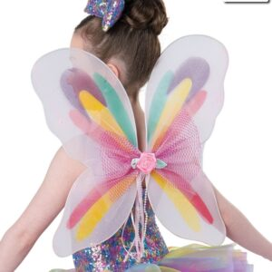 A786  Rainbow Wings Dance Costume Accessory
