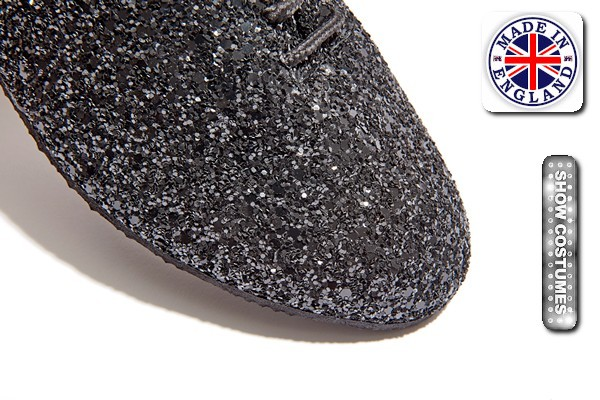 Black Glitter Jazz Shoe Detail