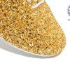 Gold Glitter Jazz Shoe Detail