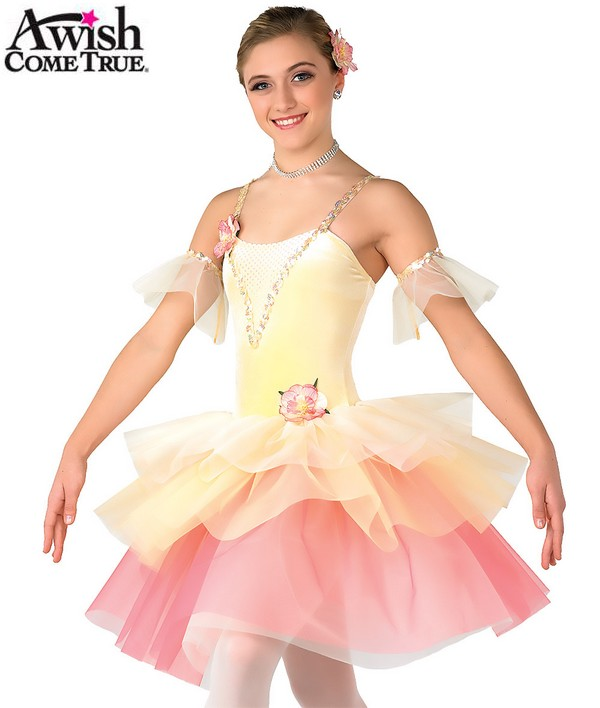 H155 30 Waltz Of The Flowers Ballet Tutu Yellow