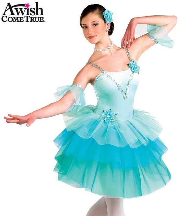 H155 54 Waltz Of The Flowers Ballet Tutu Aqua