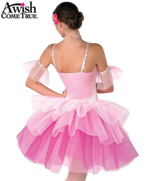 H155 75 Waltz Of The Flowers Ballet Tutu Pink Back