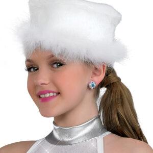 H315H  Marabou Trim Hat Dance Costume Accessory