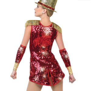 H471  Wooden Soldier Christmas Themed Dance Costume Back