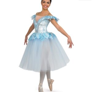 H478  Snowflake Long Christmas Themed Ballet Tutu