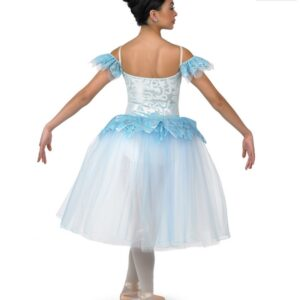 H478  Snowflake Long Christmas Themed Ballet Tutu Back