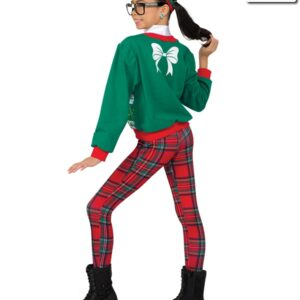 H506  Jolly To The Core Christmas Jazz Costume Back