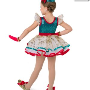 H5  Ribbons And Bows Christmas Themed Jazz Tap Performance Costume Back