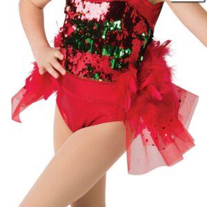 H522 A  Santa Shuffle Bustle Christmas Themed Dance Costume Accessory