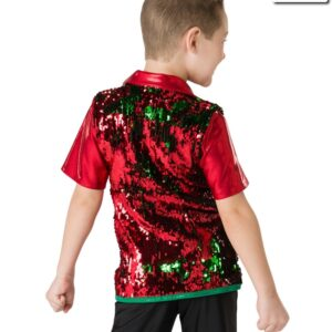 H523  Santa Shuffle Flip Sequin Boys Dance Shirt Back