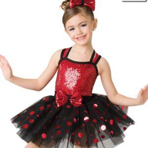 H525  Jing Jing Jingle Christmas Themed Tap Performance Dance Costume Red