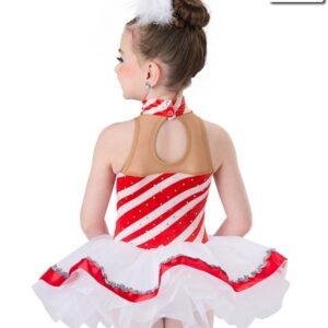 H533  Peppermint Cane Christmas Themed Short Ballet Tutu Back