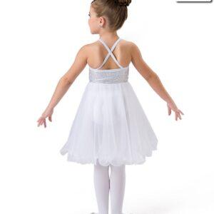 H535  Silent Night Angel Themed Lyrical Dance Dress Back