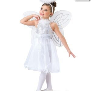 H535  Silent Night Angel Themed Lyrical Dance Dress Front