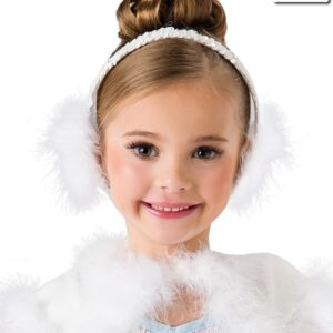 H536 A  Marabou Ear Muffs Dance Costume Accessory