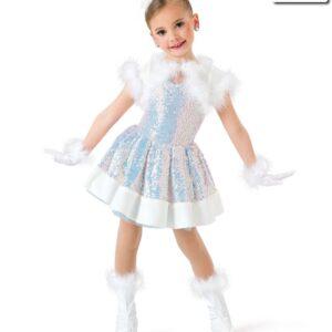 H536  Winter Wonderland Iridescent Sequin Christmas Themed Dance Costume